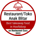 Recommendation badge from Restaurant Guru for Anak Blitar in Hoofddorp