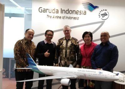 Garuda Indonesia-Indonesisch is klant van de catering service van Anak Blitar